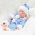 Newborn Baby Doll Silicone 10 Inch Soft Body Blue Winter Clothes