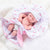 Newborn Baby Doll Silicone 10 Inch Soft Body in Pink Sleeping Clothes