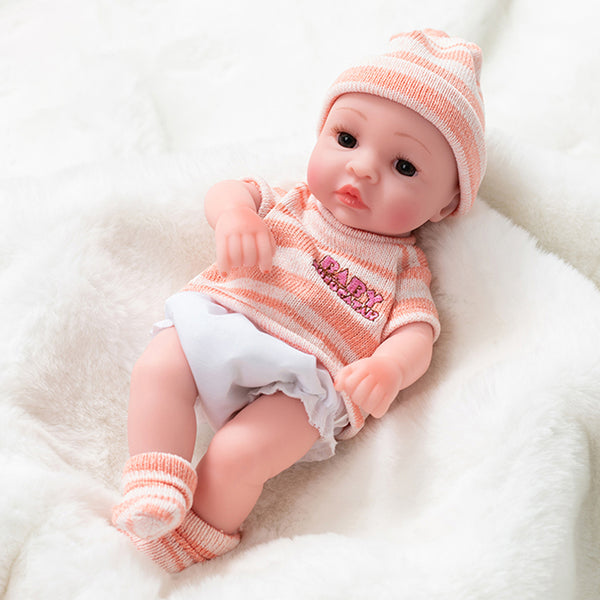 Newborn Baby Doll Silicone 10 Inch Soft Body in Rose Color