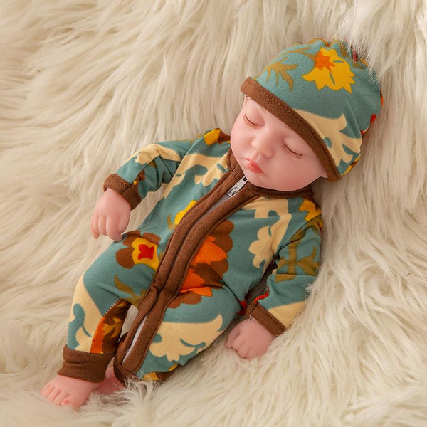 Newborn Baby Doll Silicone 10 Inch Soft Body in Mix Color