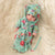 Newborn Baby Doll Silicone 10 Inch Soft Body in Flower and Blue Clothes