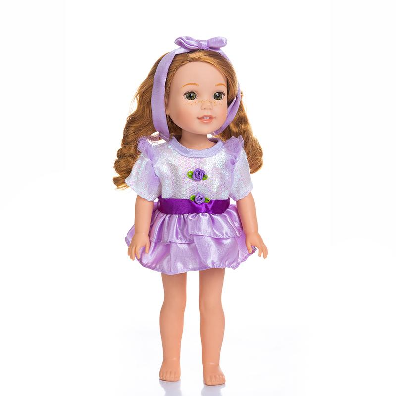 Adorable Girls Doll 14 Inch Fashion Barbie Doll Purple