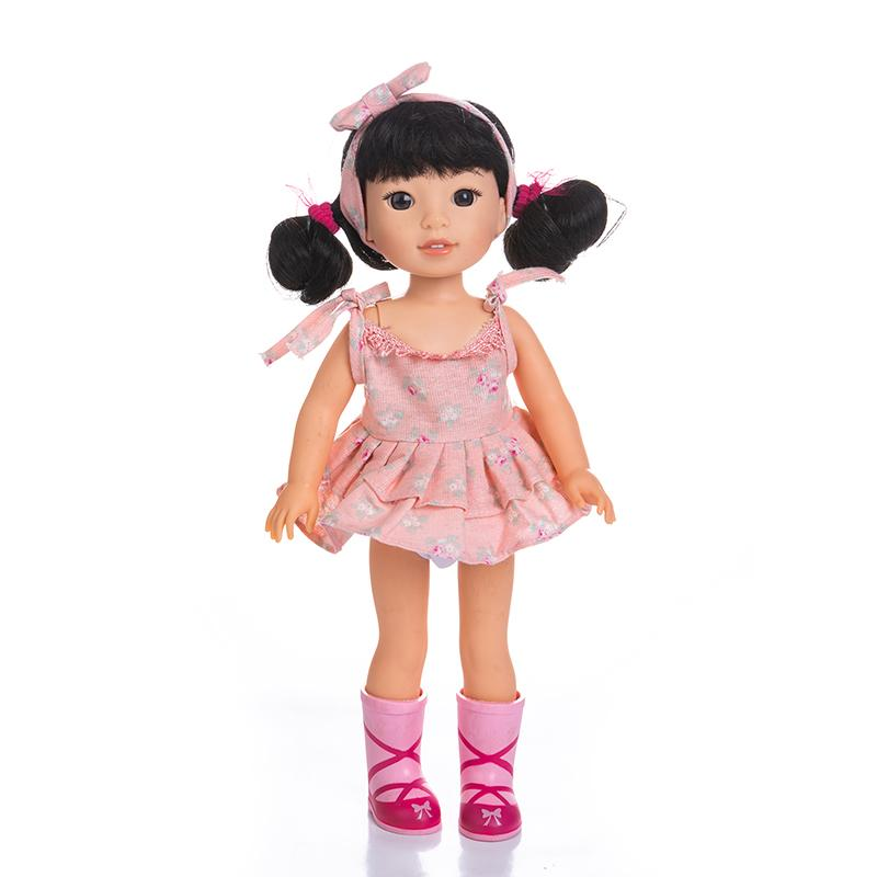 Adorable Girls Doll 14 Inch Fashion Barbie Doll Black Hair