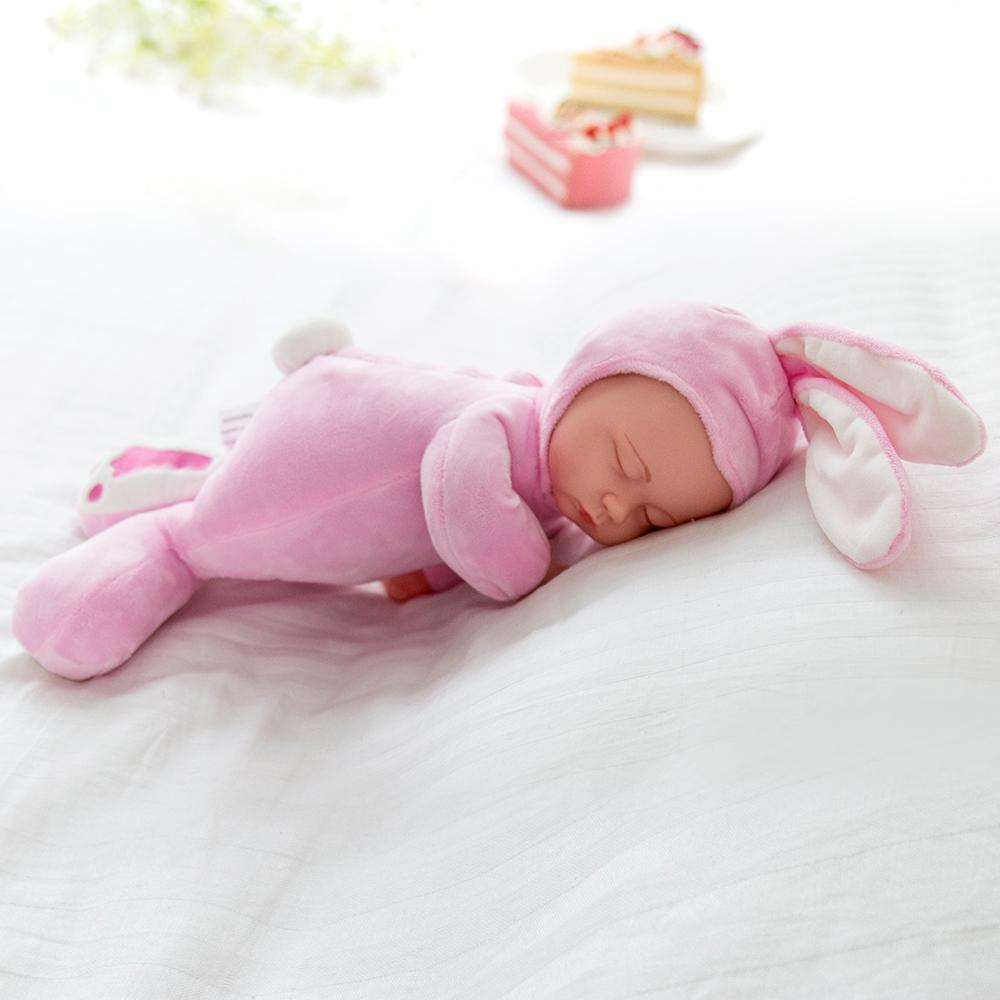 Pink Rabbit Sleeping Baby Doll Newborn baby Soft Body