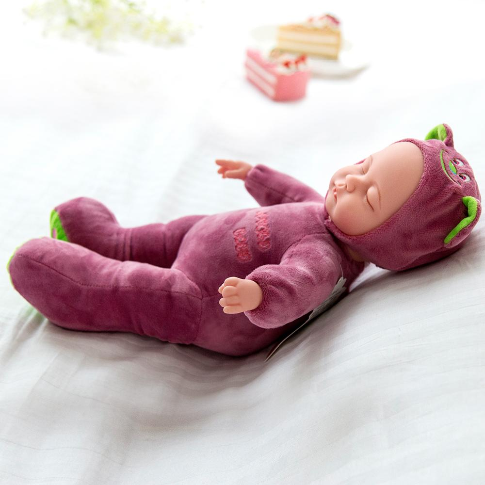 Purple Bear Sleeping Baby Doll Newborn baby Soft Body