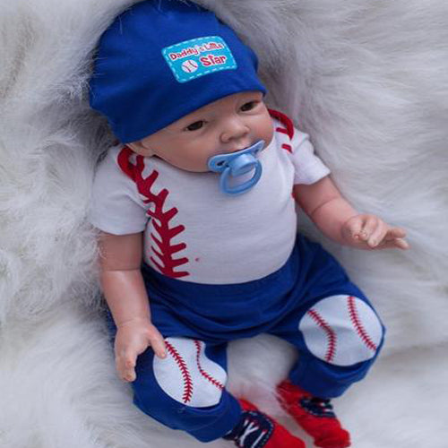 Reborn Baby Doll Lifelike Baby Silicone Doll (Tennis Prince)