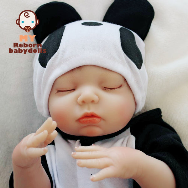 Reborn Baby Doll Lifelike Baby Silicone Doll (Little Panda Me)