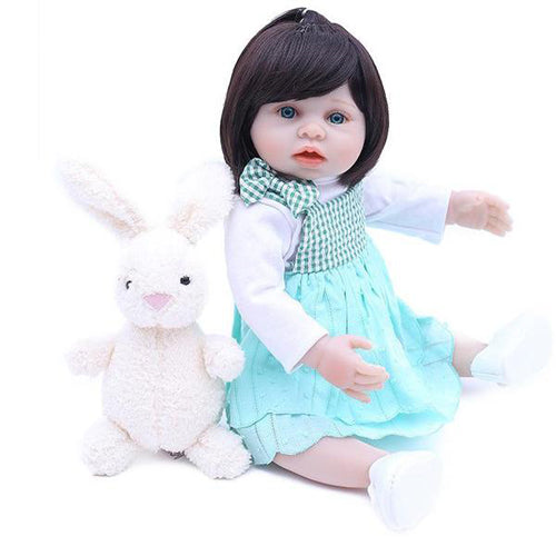 Reborn Baby Doll Lifelike Baby Silicone Girl Doll(shopping girl on Saturday)