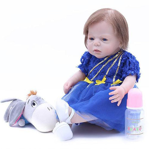 Reborn Baby Doll Lifelike Baby Silicone Girl Doll(come relax with me)