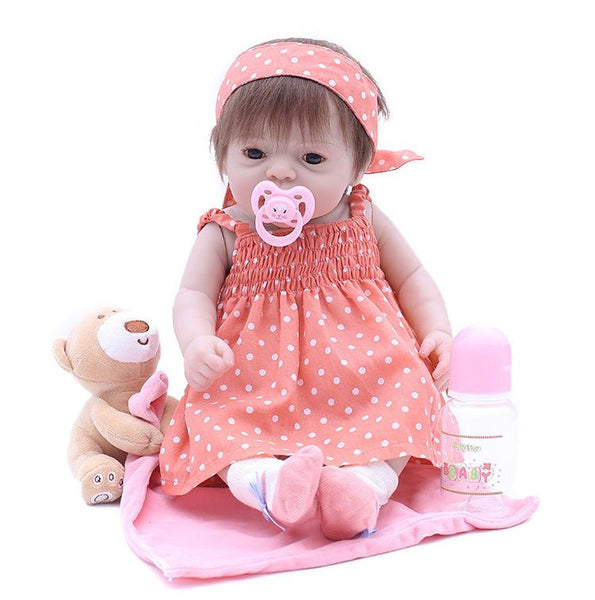 Reborn Baby Doll Lifelike Baby Silicone Girl Doll(A Cool Summer)