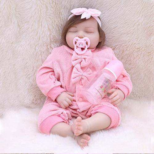 Reborn Baby Doll Lifelike Baby Silicone Doll(Bunny-princess)