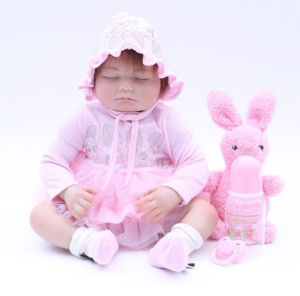 Reborn Baby Doll Lifelike Baby Silicone Doll(I want to play with u)