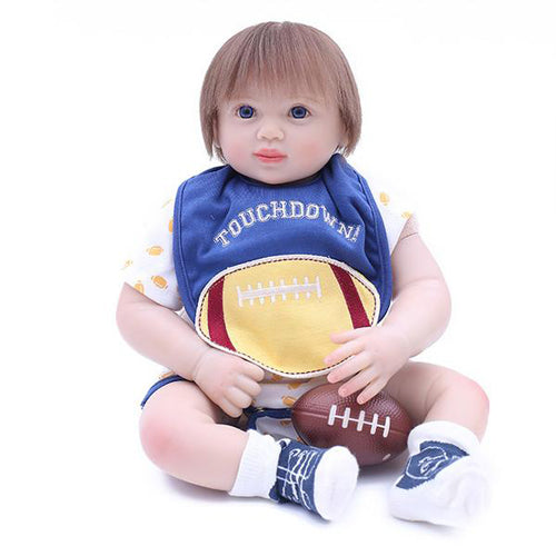 Reborn Baby Doll Lifelike Baby Silicone Doll(Dinner with Me)