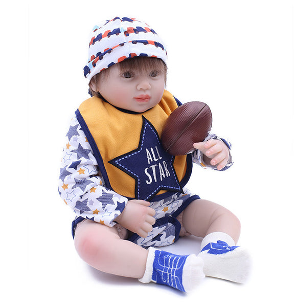 Reborn Baby Doll Lifelike Baby Silicone Doll(All Star)