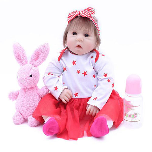 Reborn Baby Doll Lifelike Baby Silicone Doll(Curious Baby)
