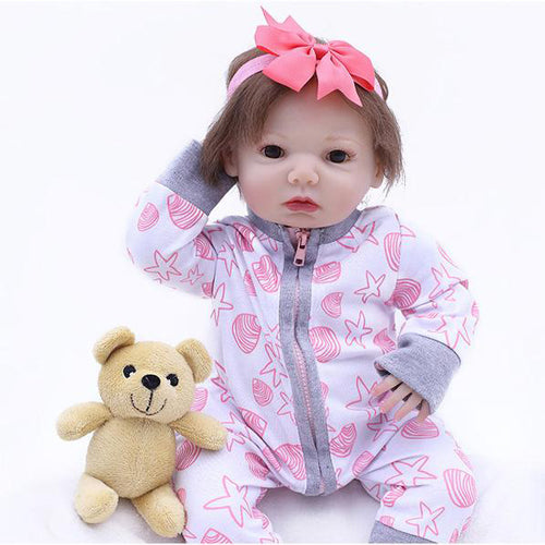 Reborn Baby Doll Lifelike Baby Silicone Doll(Please love me)