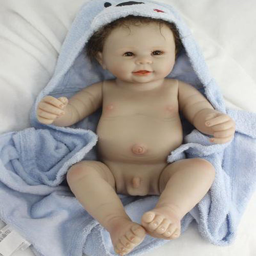 Reborn Baby Doll Lifelike Baby Silicone Boy Doll(Come and take a shower together!)