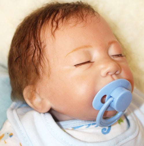 REBORN BABY DOLL LIFELIKE BABY SILICONE DOLL(Sweet dreams Mary)