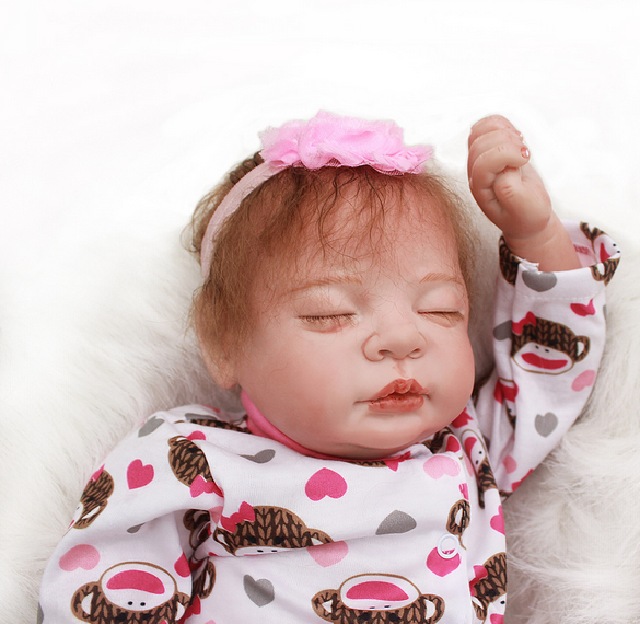 Reborn Baby Doll Lifelike Baby Silicone Doll(Sweet Dream)