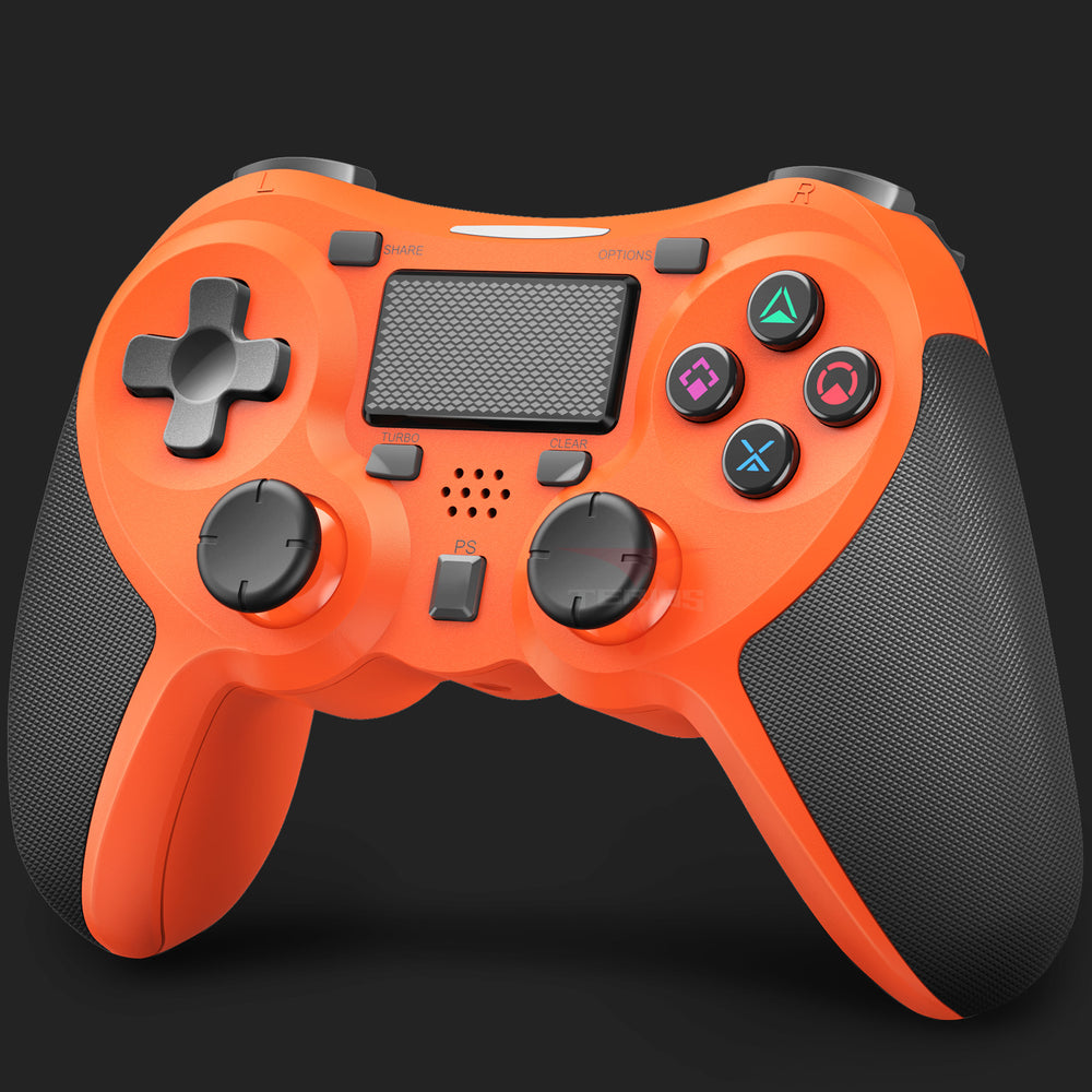 PS4 Wireless Controller – Gaming Remote Compatible with Playstation 4 - Orange