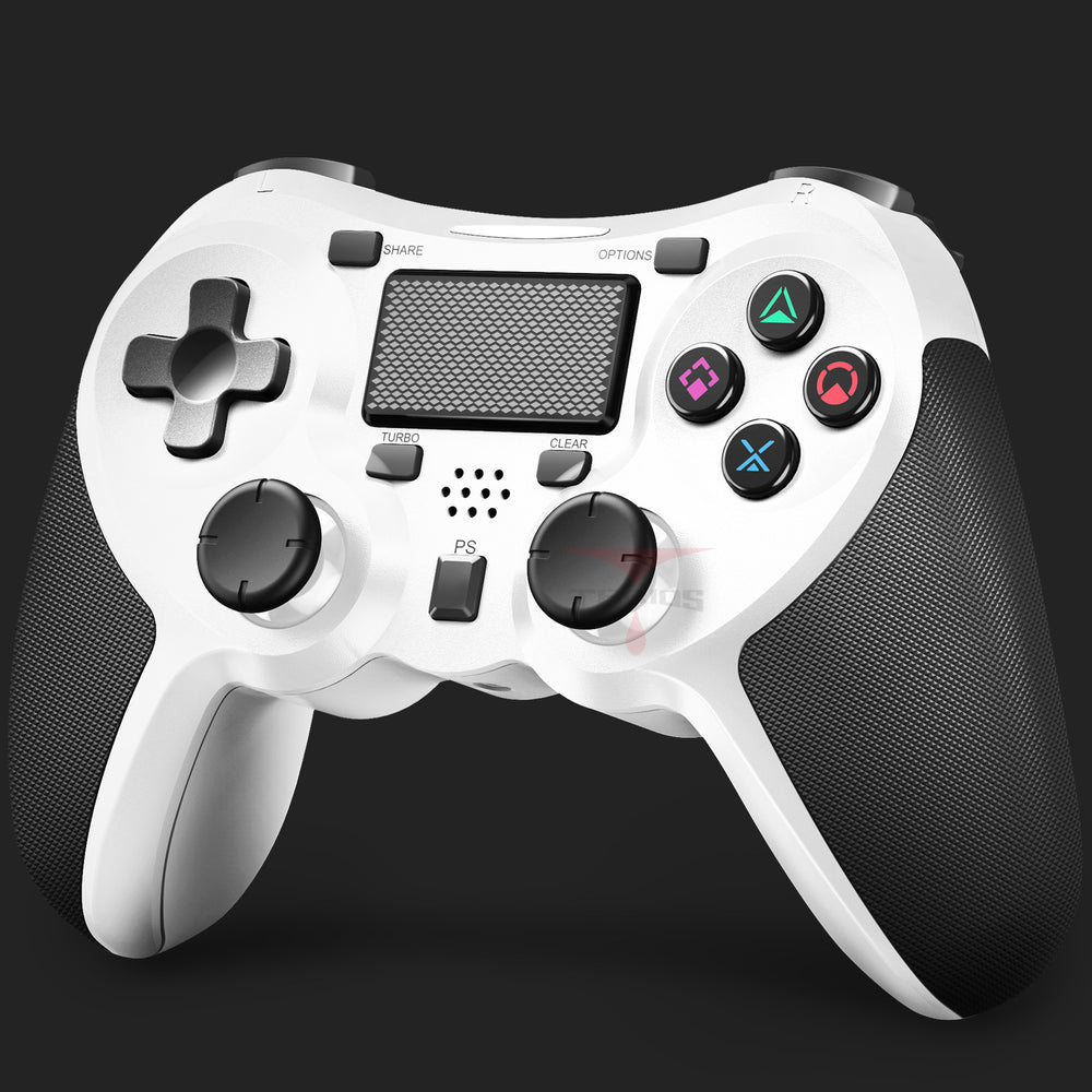 PS4 Wireless Controller DualShock 4, Gamepad Controller for PlayStation 4 - White