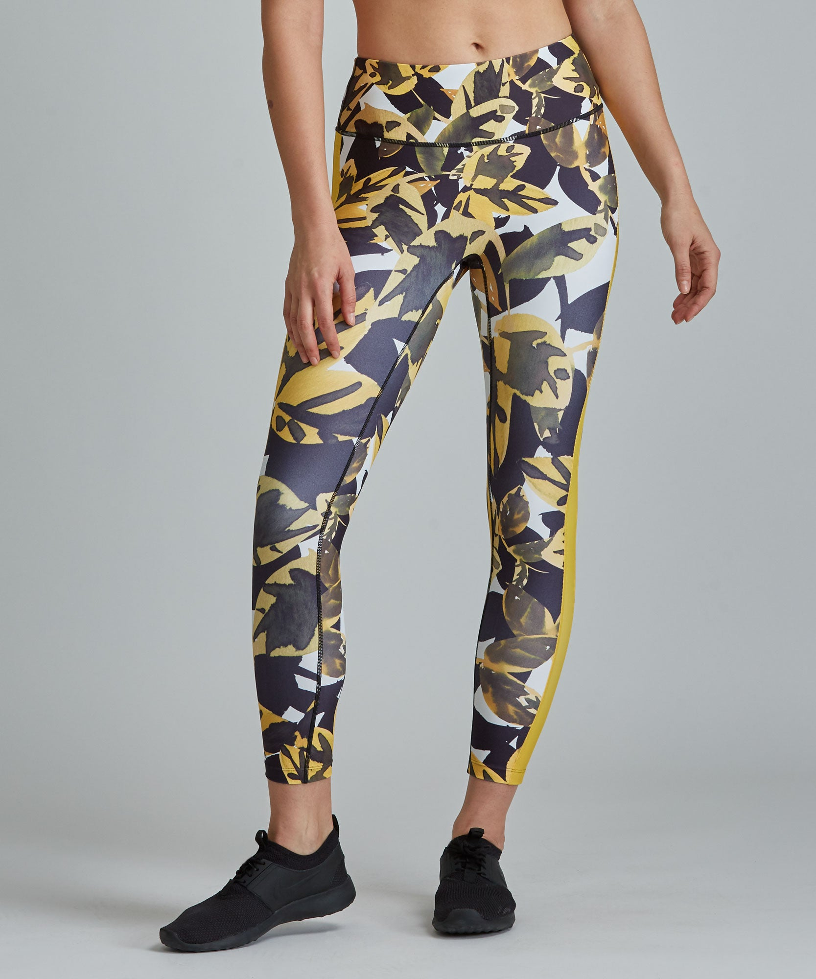Hi-Waist Barre 7/8 Legging - Autumn Leaves