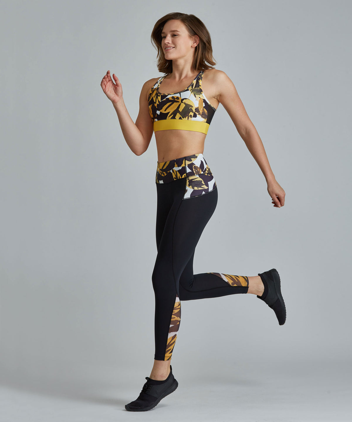 Peace Full-Length Legging - Autumn Leaves Autumn Leaves Peace Full-Length Legging - Women's Yoga Legging by PRISMSPORT
