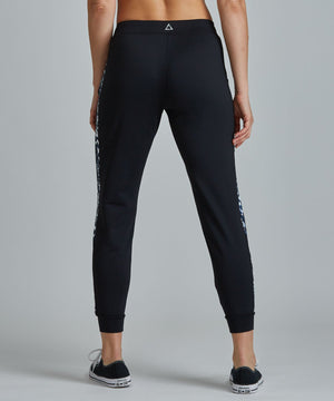 Urban Track Pant - Black/ Leopard Black and Leopard Urban Track Pant - Women's Activewear Pant by PRISMSPORT