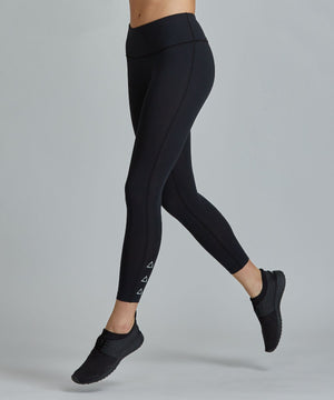 Hi-Waist Barre 7/8 Legging - Black Black Hi-Waist Barre 7/8 Legging - Women's Yoga Legging by PRISMSPORT