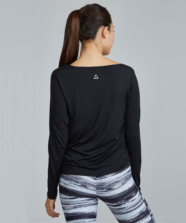 Joan Top - Black Black Joan Top - Women's Activewear Long Sleeve Top by PRISMSPORT