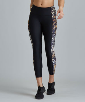 Mobility 7/8 Legging - Black/ Ombre Cheetah Black and Ombre Cheetah Mobility 7/8 Legging - Women's Yoga Legging by PRISMSPORT