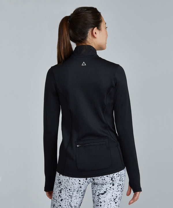 Pace Jacket - Black Black Pace Jacket - Women's Activewear Jacket by PRISMSPORT