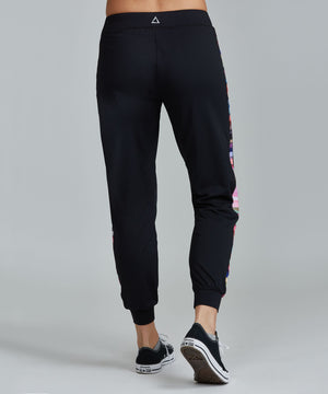 Urban Track Pant - ROYGBIV Black ROYGBIV Urban Track Pant - Women's Activewear Pant by PRISMSPORT