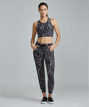 Urban Track Pant - Black Travertine Black Travertine Urban Track Pant - Women's Activewear Pant by PRISMSPORT