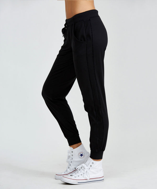 Urban Track Pant - Black Black Urban Track Pant - Women's Activewear Pant by PRISMSPORT