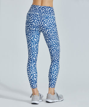 Hi-Waist Barre 7/8 Legging - Blue Vines Blue Vines Hi-Waist Barre 7/8 Legging - Women's Yoga Legging by PRISMSPORT