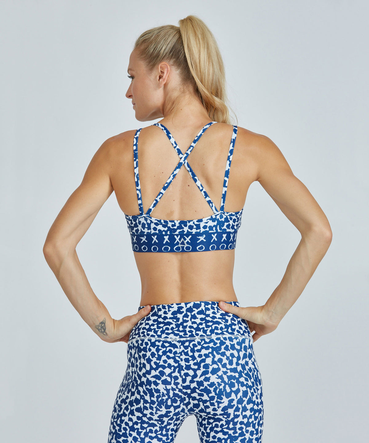 Strappy Bra - Blue Vines Blue Vines Strappy Bra - Women's Sports Bra by PRISMSPORT