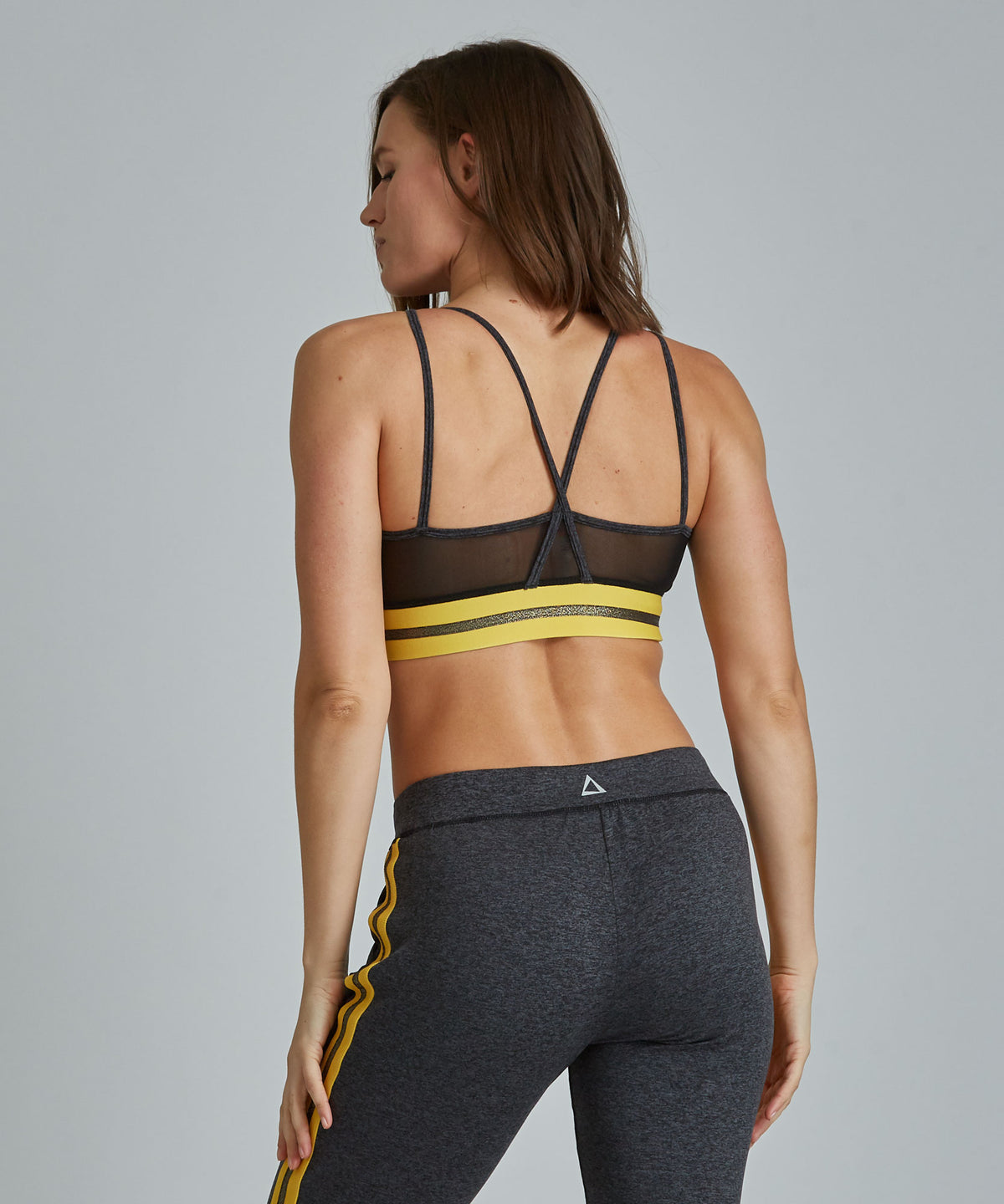 Kris Bra - Charcoal Heather Charcoal Heather Kris Bra - Women's Sports Bra by PRISMSPORT