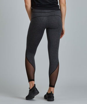 Peace Full-Length Legging - Charcoal Heather Charcoal Heather Peace Full-Length Legging - Women's Yoga Legging by PRISMSPORT