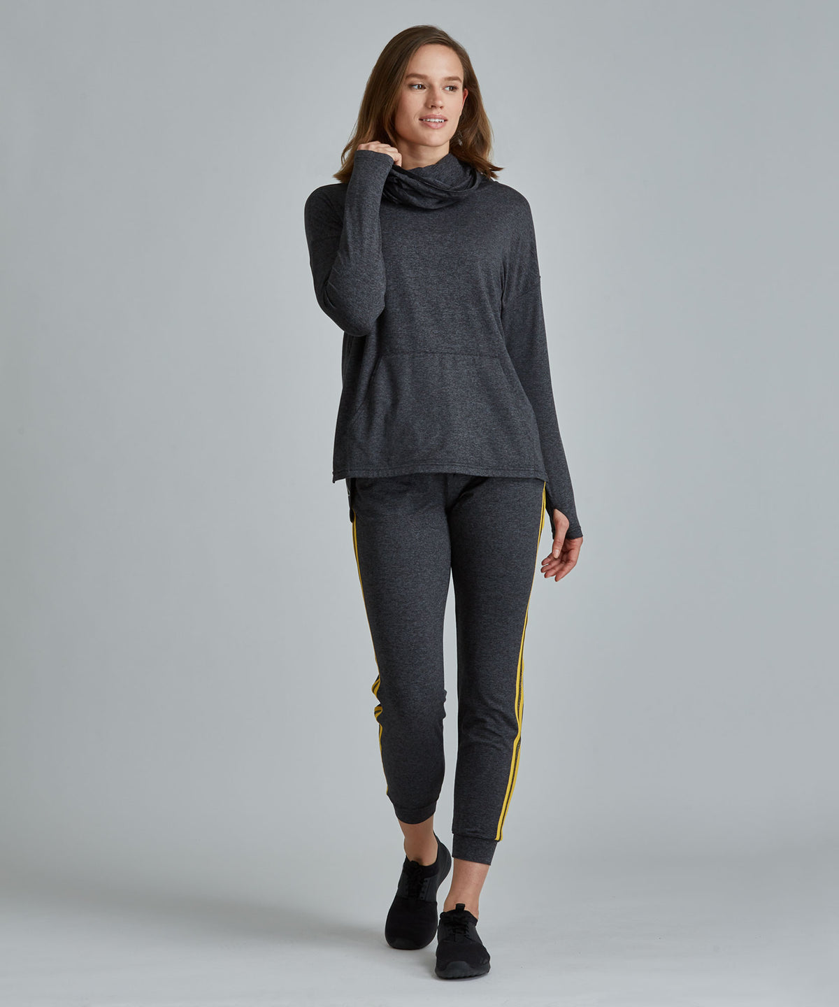 Savasana Hoodie - Charcoal Heather Charcoal Heather Savasana Hoodie - Women's Activewear Sweatshirt by PRISMSPORT