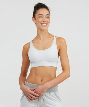 Strappy Bra - Cloud Cloud Heather Strappy Bra - Women's Sports Bra by PRISMSPORT