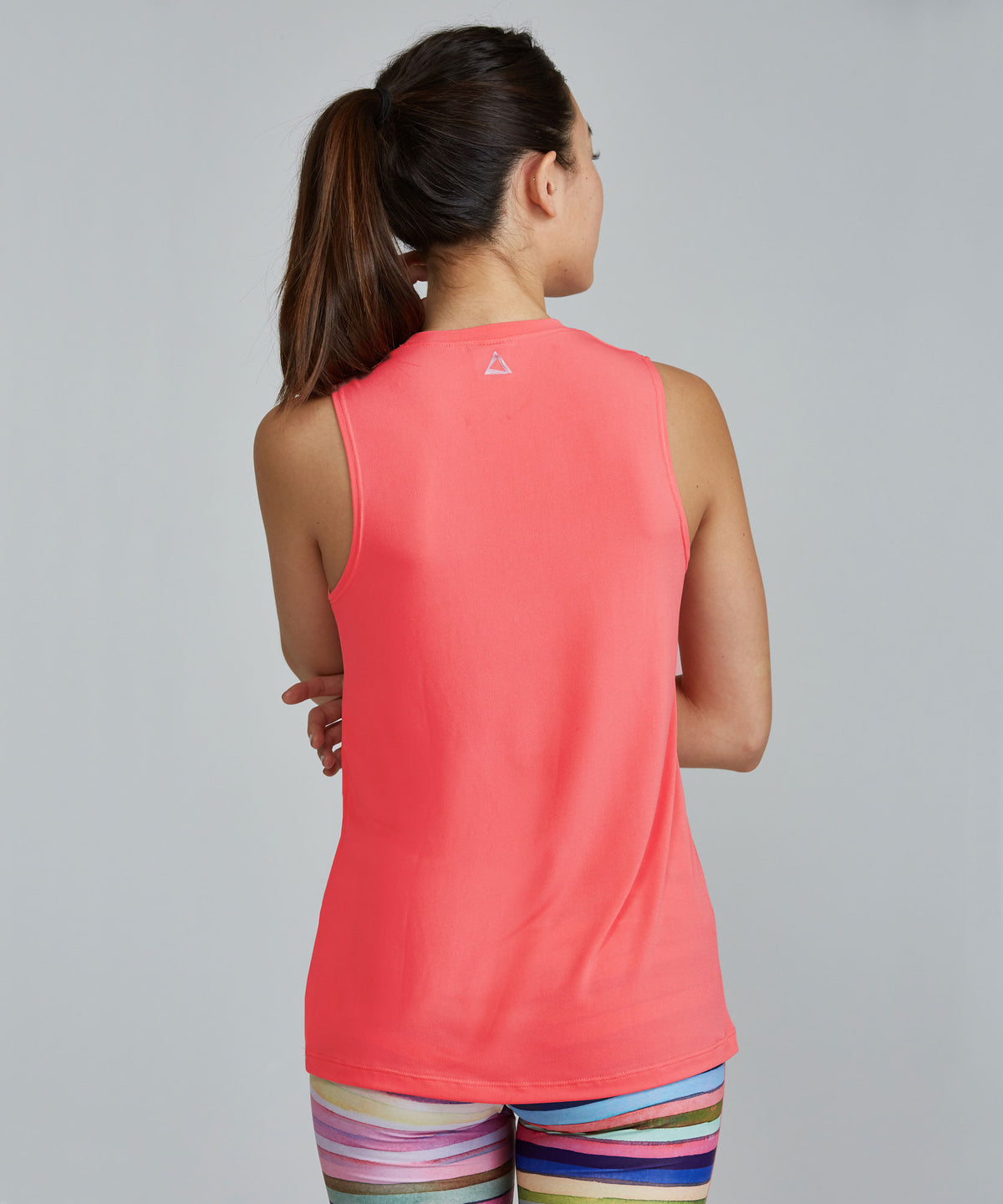 Muscle Tee - Coral Coral Muscle Tee - Women's Activewear Tank Top by PRISMSPORT
