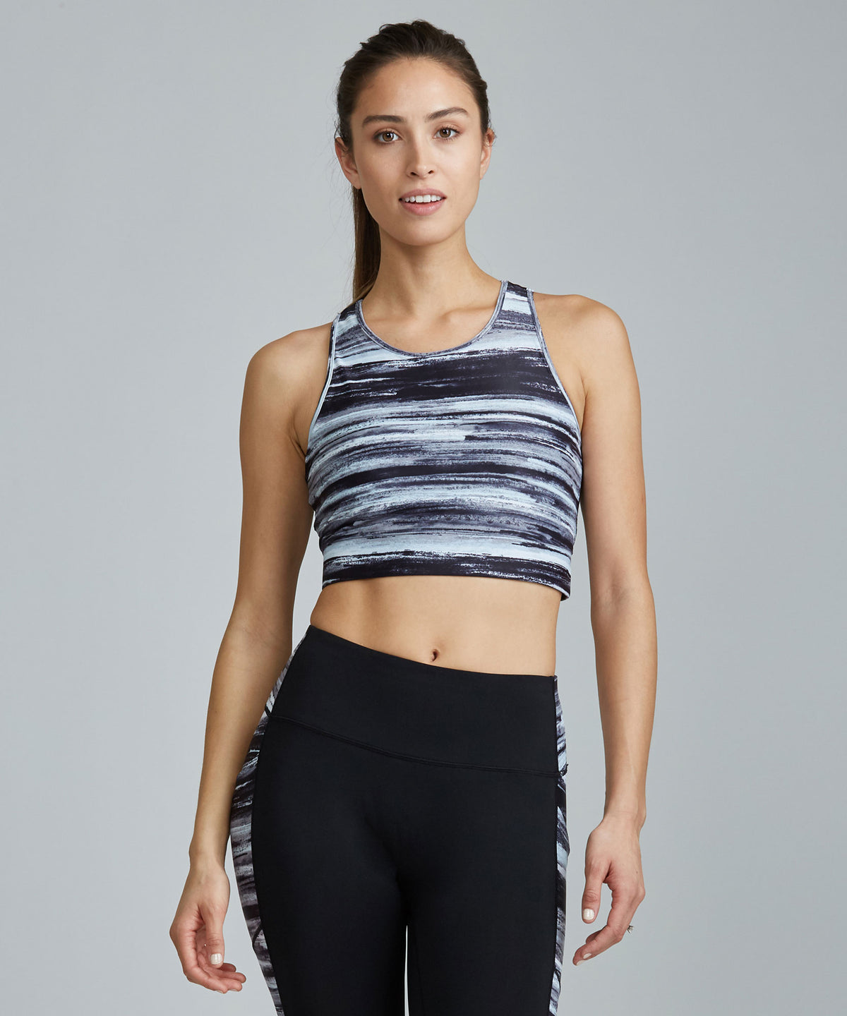 Crop Bra Top - Evening Evening Crop Bra Top - Women's Sports Bra by PRISMSPORT
