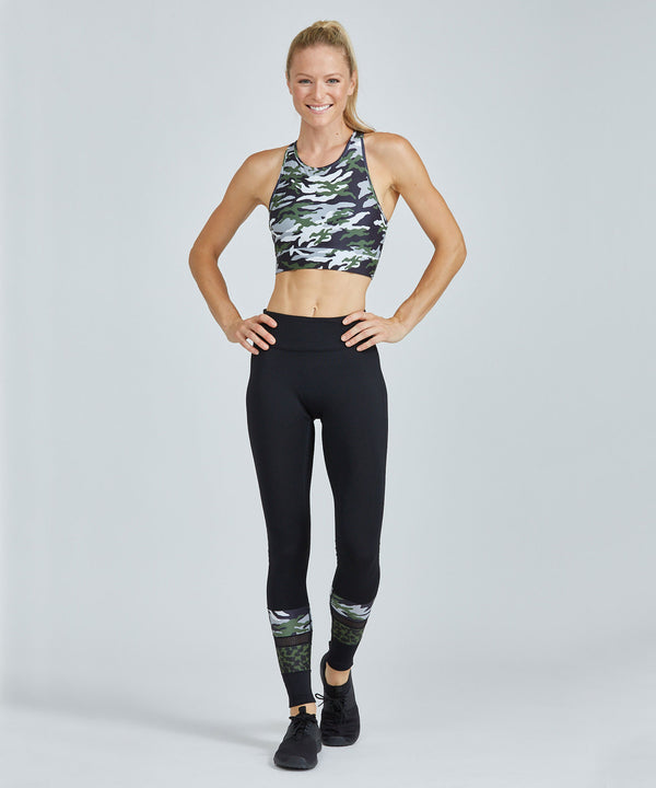 Full-Length Medley Legging - Green Patton Green Patton Full Length Medley Legging - Women's Yoga Legging by PRISMSPORT