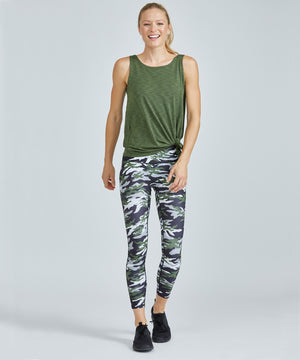 Hi-Waist Barre 7/8 Legging - Green Patton Green Patton Hi-Waist Barre 7/8 Legging - Women's Yoga Legging by PRISMSPORT