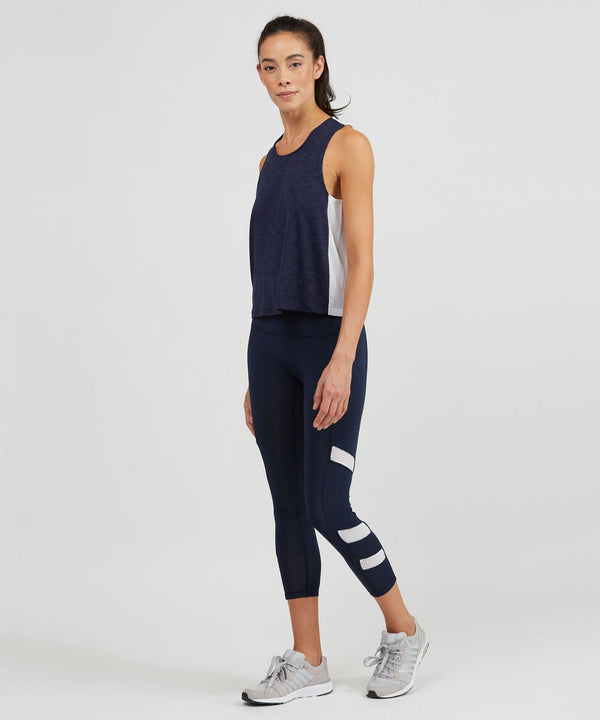 Relay 7/8 Legging - Navy Navy Relay 7/8 Legging - Women's Yoga Legging by PRISMSPORT