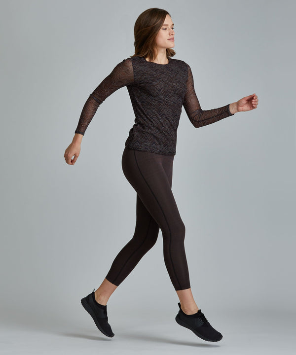 Emma Mesh Long Sleeve Tee - Okapi Okapi Emma Mesh Long Sleeve Top - Women's Activewear Long Sleeve Top by PRISMSPORT