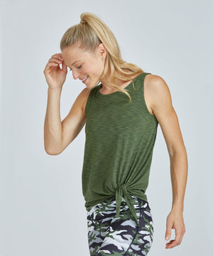 Lucy Top - Olive Olive Lucy Top - Women's Activewear Tank Top by PRISMSPORT