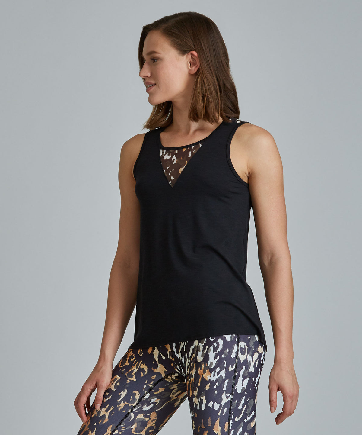 Amanda Top - Ombre Cheetah Ombre Cheetah Amanda Top - Women's Activewear Tank Top by PRISMSPORT