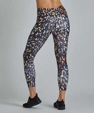 Hi-Waist Barre 7/8 Legging - Ombre Cheetah Ombre Cheetah Hi-Waist Barre 7/8 Legging - Women's Yoga Legging by PRISMSPORT